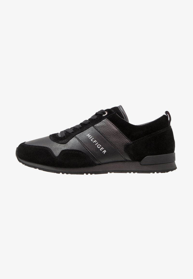 Tommy Hilfiger - ICONIC LEATHER SUEDE MIX RUNNER - Trainers - black