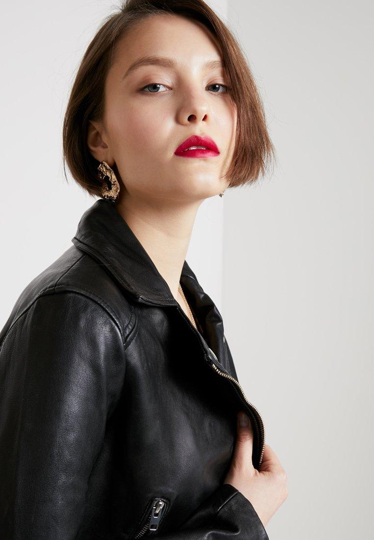 TAMMY CROP BIKER Leren jas black