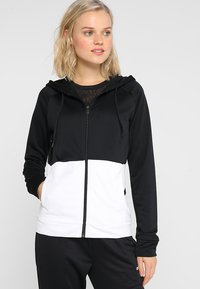 adidas Performance - LIN HOOD SET - Zip-up hoodie - black/white - 0