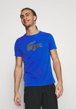 BIG LOGO - T-shirt med print - lazuli/black