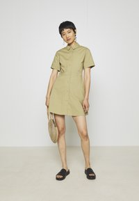 Samsøe Samsøe - BARBARA SHORT DRESS - Shirt dress - olive grey - 1