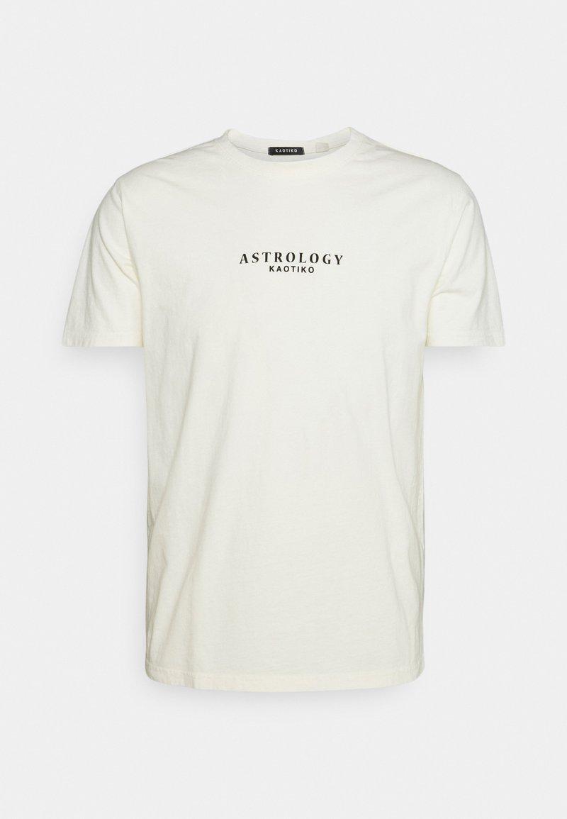 Kaotiko - WASHED SCORPION - Print T-shirt - ivory