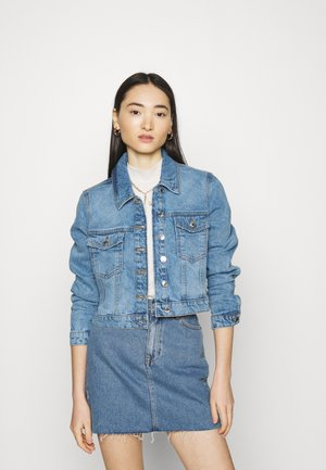 VMMIKKY SHORT JACKET - Jeansjakke - light blue denim