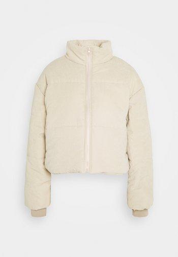 PEACHED PUFFER JACKET - Winter jacket - stone
