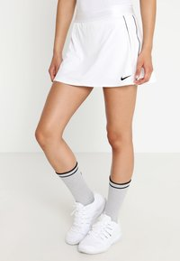 Nike Performance - DRY SKIRT - Sports skirt - white/black - 0