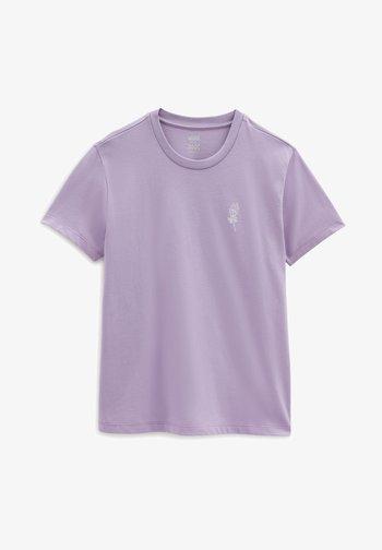 Print T-shirt - chalk violet