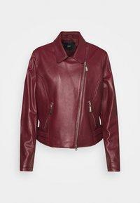 Steffen Schraut - RANCHERA LUXURY BIKER JACKET - Leather jacket - cranberry - 4
