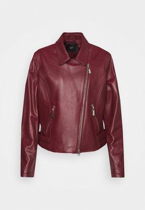 RANCHERA LUXURY BIKER JACKET - Leather jacket - cranberry