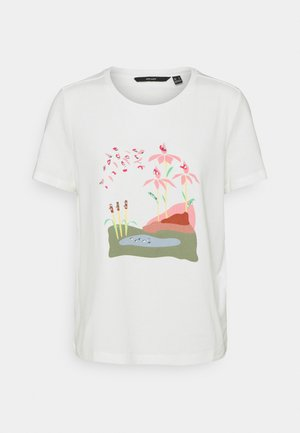 VMHELAOLLY - Print T-shirt - snow white