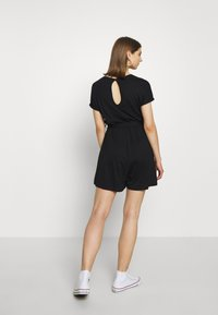Even&Odd - BASIC - SHORT SLEEVES BOAT PLAYSUIT - Combinaison - black - 2