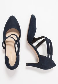 Anna Field - LEATHER PUMPS - Classic heels - dark blue - 3