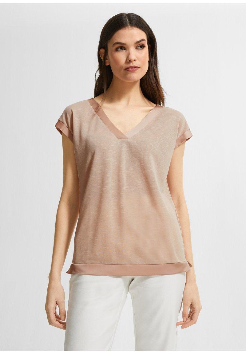 comma - Basic T-shirt - beige