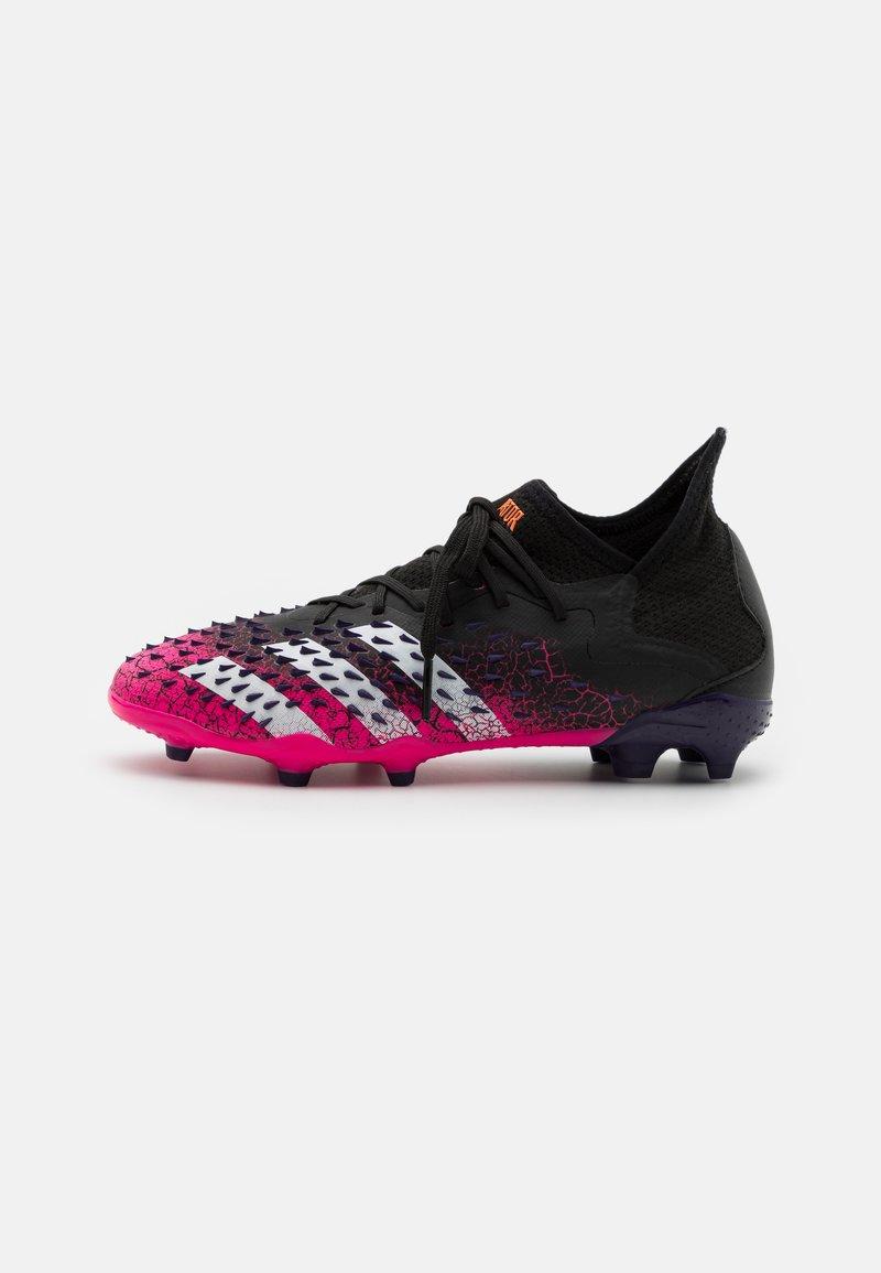 adidas Performance - PREDATOR FREAK .1 FG UNISEX - Moulded stud football boots - core black/footwear white/shock pink