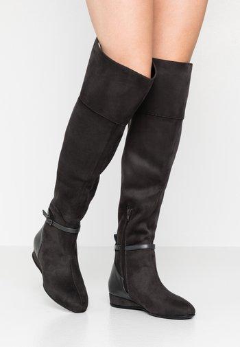Overknee laarzen - dark gray