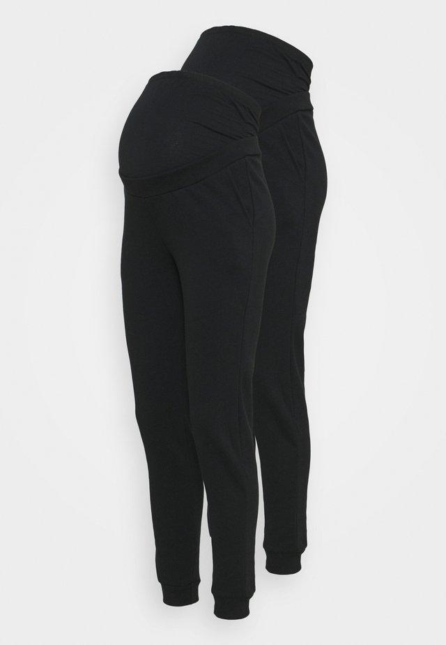 2 PACK - REGULAR FIT JOGGERS - OVERBUMP - Spodnie treningowe - black/black