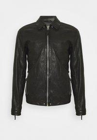 Gabba - PHIRE CRAN - Leather jacket - black - 0