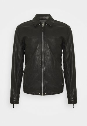 PHIRE CRAN - Leather jacket - black