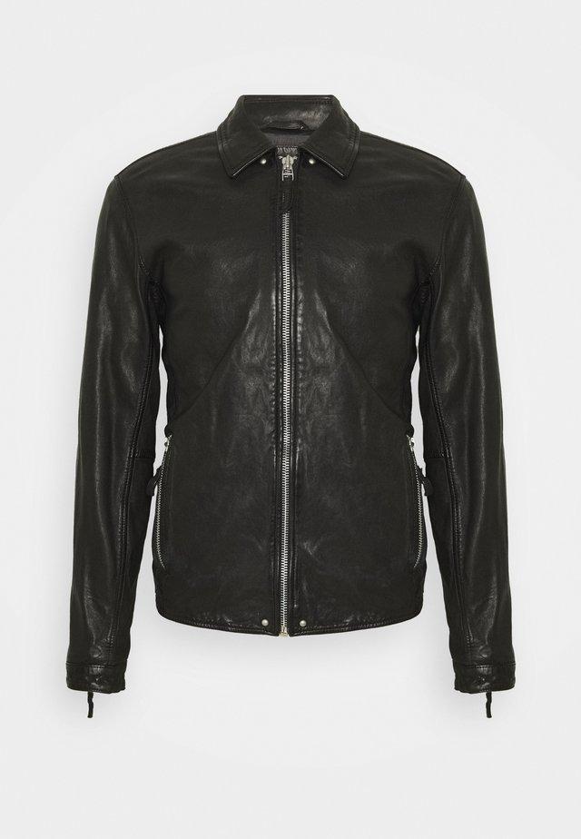 PHIRE CRAN - Leren jas - black