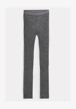 LEGGINGS AUS WOLLE UND SEIDE - Leggings - Stockings - puzzle grigio