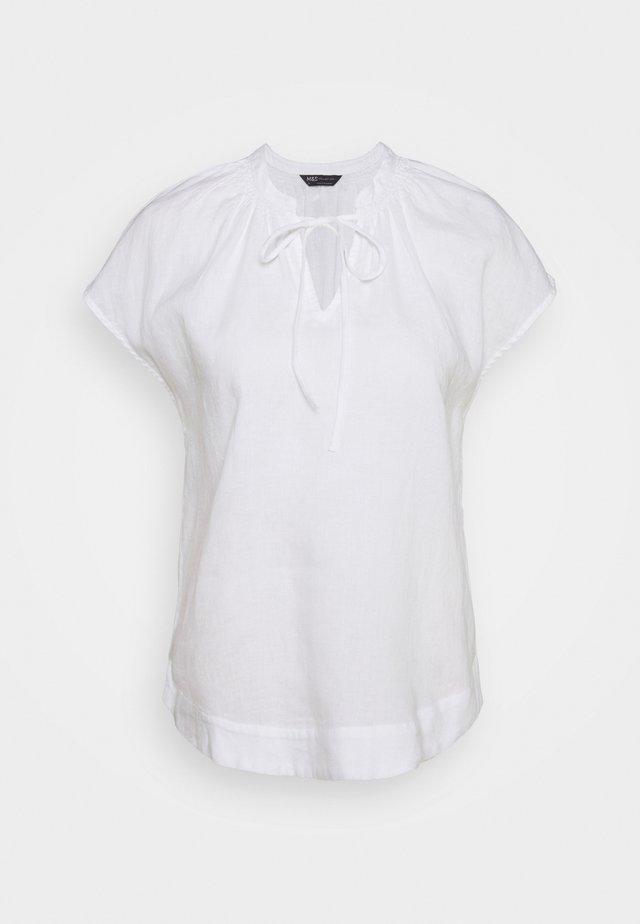 TIE SHELL - Bluzka - white