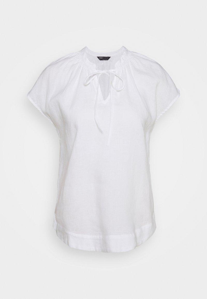 Marks & Spencer London - TIE SHELL - Blouse - white