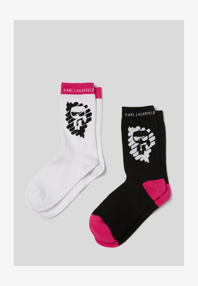 KARL LAGERFELD - Socken - white/blck