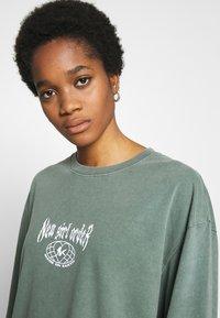 NEW girl ORDER - THUNDERSTRUCK LONG SLEEVE TEE - Camiseta de manga larga - green - 4