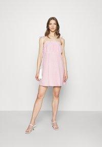Cotton On - MATILDA TIE STRAPPY MINI DRESS - Day dress - fairy floss - 1