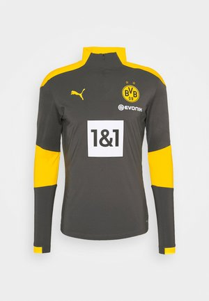 BVB BORUSSIA DORTMUND TRAINING ZIP - Club wear - asphalt cyber/yellow