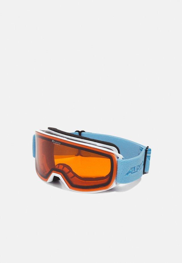 NAKISKA UNISEX - Skibriller - white/skyblue matt