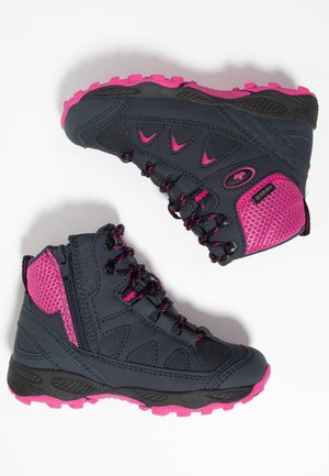 CASCADE - Lace-up ankle boots - marine/pink