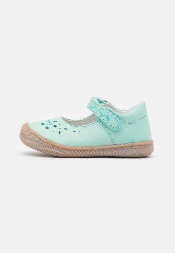 Ankle strap ballet pumps - acquamarina