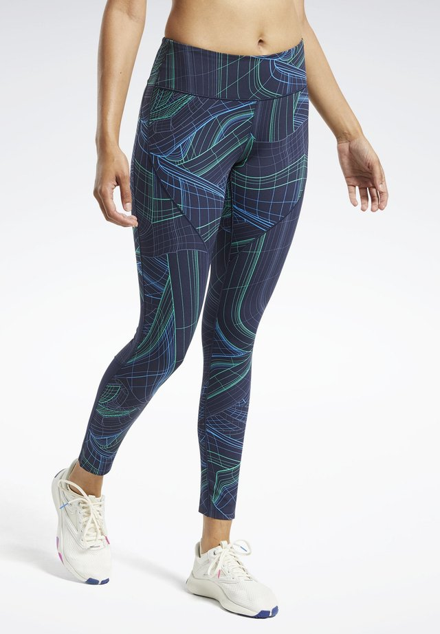 LUX PERFORM TECHNICAL TWIST LEGGINGS - Medias - blue