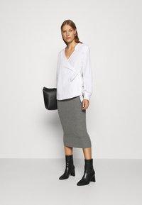esmé studios - SKYLAR SKIRT - Pencil skirt - grey melange - 1