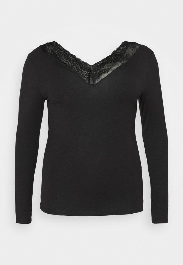 VMJAVA VNECK CURVE - Long sleeved top - black
