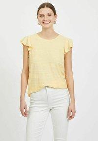 Vila - Basic T-shirt - sunlight - 0