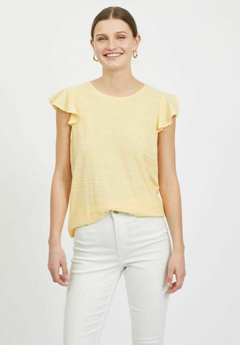 Vila - Basic T-shirt - sunlight
