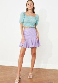 Trendyol - PARENT - A-line skirt - purple - 4