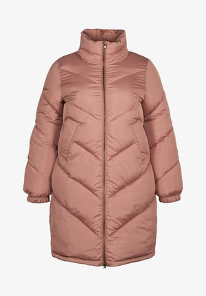 MIT HOHEM HALS - Winter coat - rose