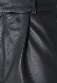 Object - OBJMIA ANKLE PANT - Leather trousers - black - 2