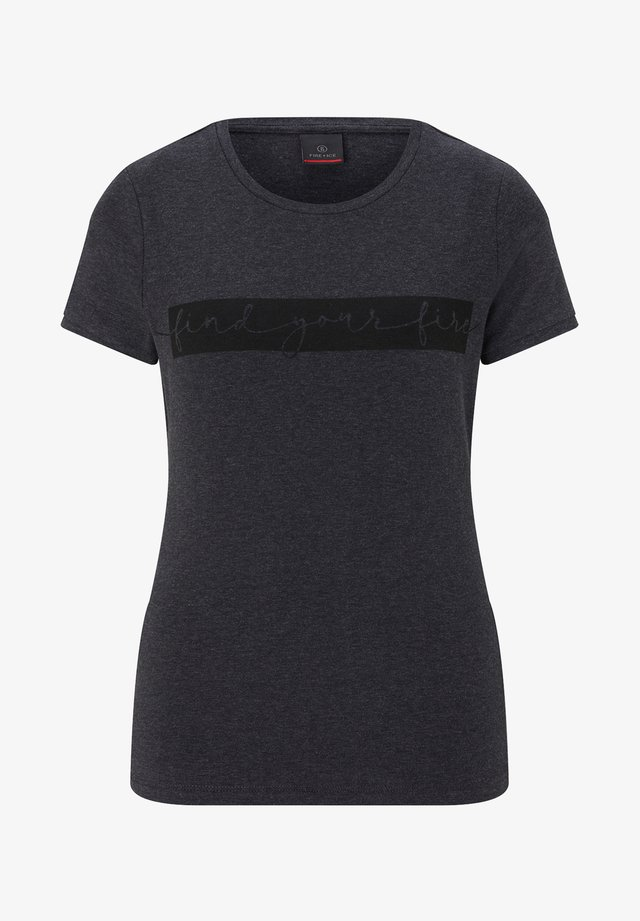 SAMBA - T-shirt imprimé - anthrazit/schwarz