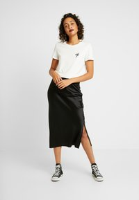 Topshop - SPLIT BIAS - A-Linien-Rock - black - 1