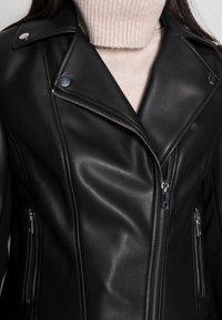 Forever New - CORRIE BIKER - Faux leather jacket - black - 4
