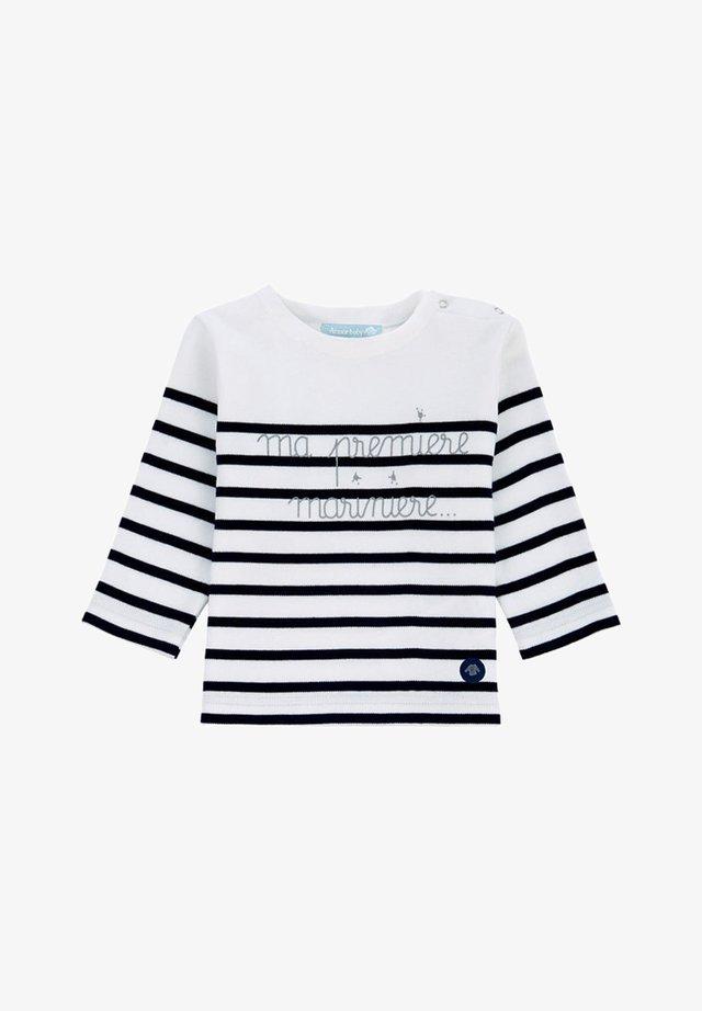 MARINIÈRE - T-SHIRT - T-shirt à manches longues - blanc/navire