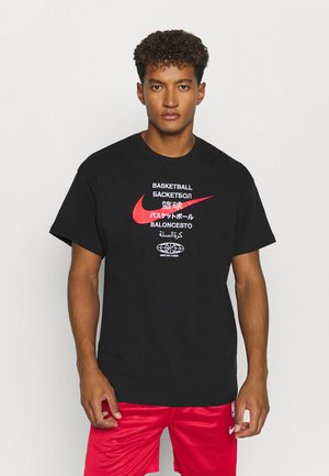 TEE GLOBAL CONTENT  - Printtipaita - black