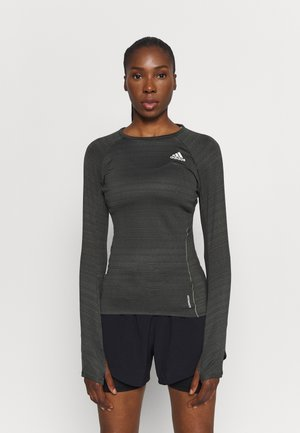 ADI RUNNER - Long sleeved top - olive
