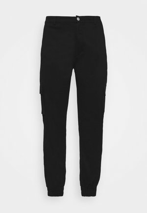 STRETCH TROUSER - Cargo trousers - black
