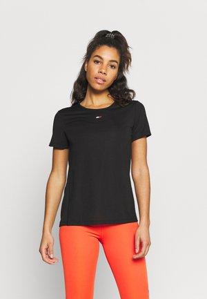 REGULAR FABRIC MIX TEE - T-shirt de sport - black