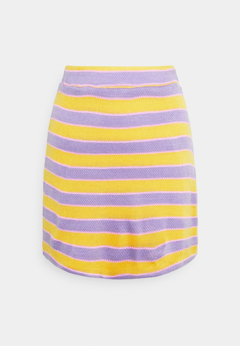 NEW girl ORDER - STRIPE MINI SKIRT - Áčková sukně - multi