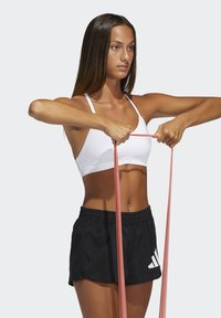 adidas Performance - BRA - Light support sports bra - white/black - 3